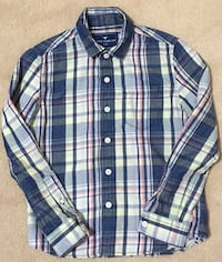 100% Cotton Long Sleeve Collared Shirt, Ages 6-7