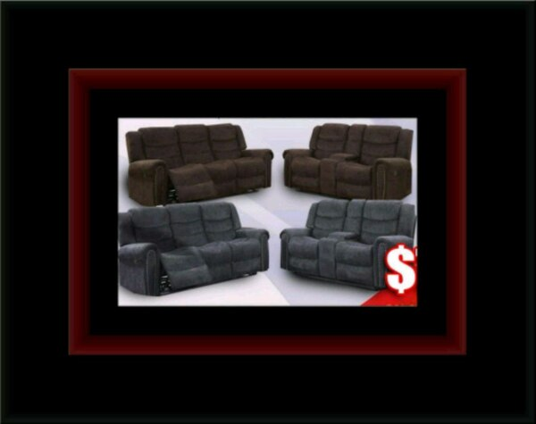 Grey or chocolate recliner set