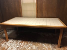 Large tile top dining table