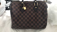 damier ebene Louis Vuitton leather tote bag Laval, H7X