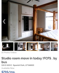 Move in today! For Rent Studio