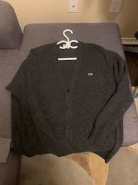 Lacoste button down cardigan size 6