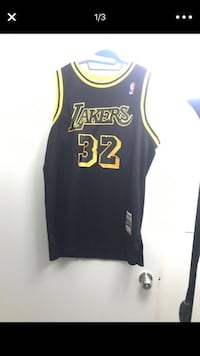 Black and yellow lakers  Johnson jersey Los Angeles, 91352