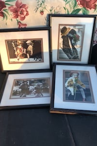 Four 8x10 frames with 5x7 photos matted