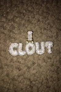 """Iced out chain """"Clout"""""""