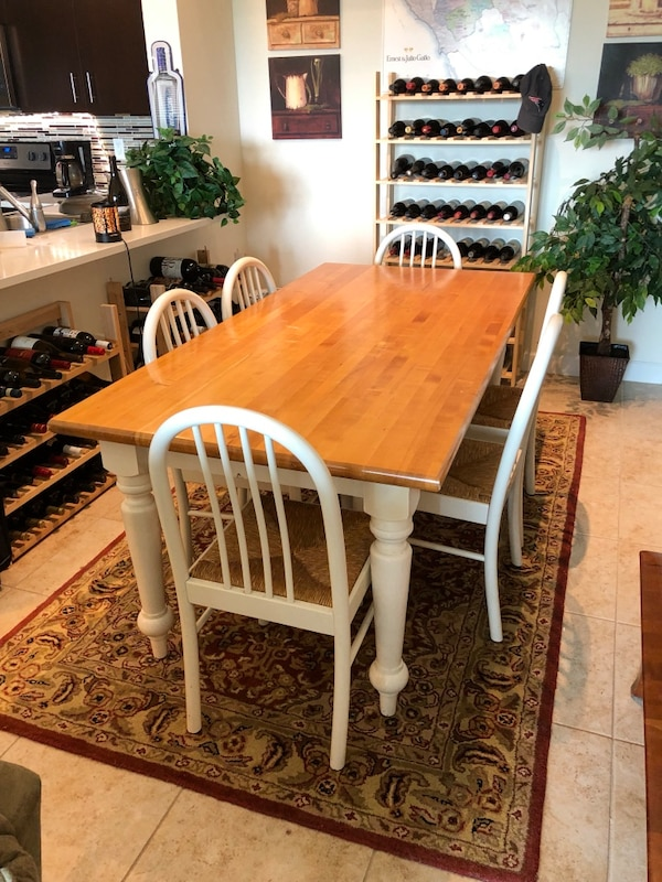 3' x 6' pine dining table