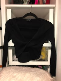Black long sleeve  with hole in the middle