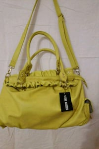 yellow leather 2-way bag Queens, 11102