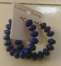 purple beaded hoop earrings Ahmedabad
