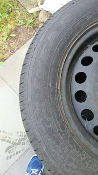Four Goodyear tires on steel rims Coquitlam, V3K