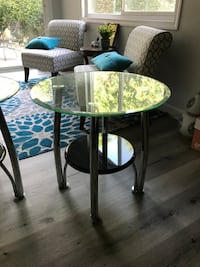 Glass Side Tables - $30 Each