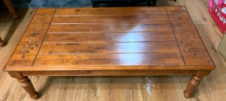 Solid Wood Coffee and End Table (great condition)
