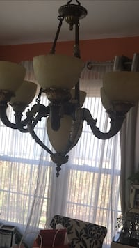 white and grey uplight chandelier Upper Marlboro, 20772