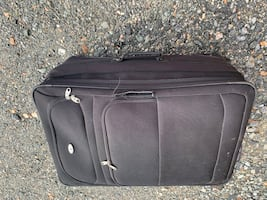 Black and gray luggage bag