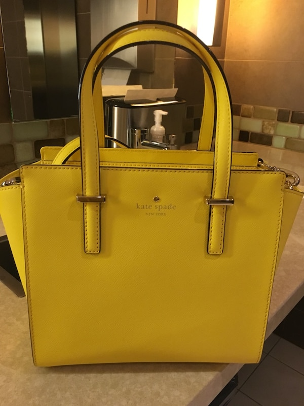1a92ca0ceb Used women's yellow leather Kate Spade tote bag for sale in Kirkland - letgo