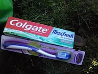purple and white Colgate toothpaste soft-tube Langley, V2Y