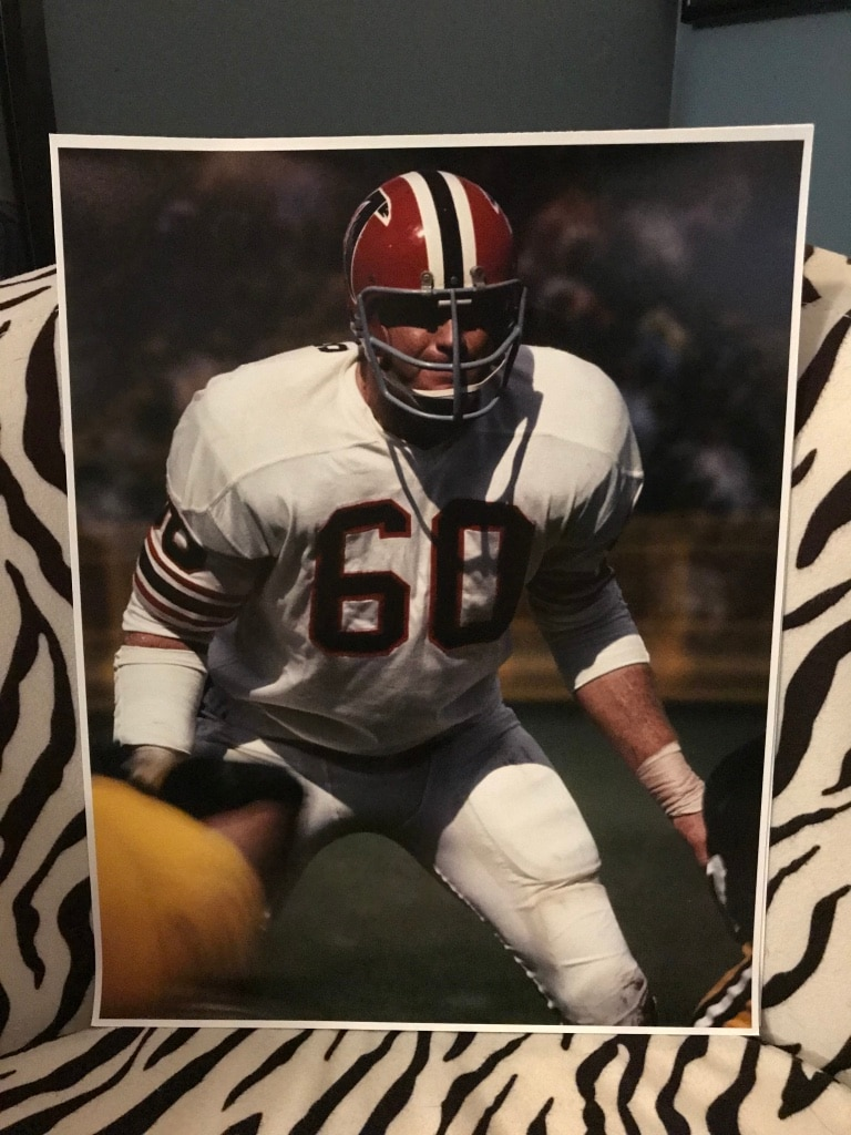 Photo Jeff Van Note Atlanta Falcons 11x14 poster