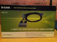 D-Link KVM-121 2-Port PS/2 KVM Switch with Audio Support