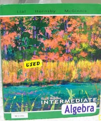 Intermediate Algebra 10th Edition, Margaret L. Lial, Hornsby, McGinnis. Isbn:  [PHONE NUMBER HIDDEN]  SOUTHAMPTON