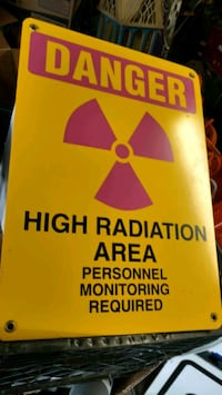 High radiation sign
