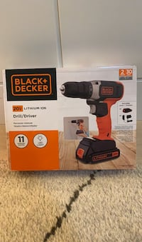 CORDLESS BLACK+DECKER DRILL - BRAND NEW/FACTORY SEALED - $30 OFF Toronto, M8X 1S2