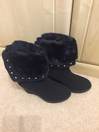 Black suede faux fur-lined boots Coventry, CV4