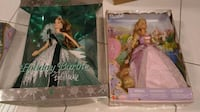 MATTEL Barbie Dolls - 2005 BOB MACKIE HOLIDAY BARBIE & 2001 RAPUNZEL DOLL  BRAND NEW IN THE BOXES.  NEVER BEEN OPENED.  SELLING FOR $80 as a set of $50 Each separately.  Well taken care of over the years...smoke and pet free home...  Bob Mackie Barbie box
