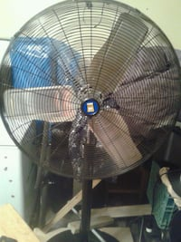 black and blue pedestal fan Edmonton, T5H