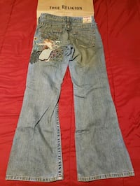 True Religion women's gray denim jeans
