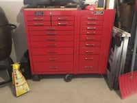 red Snap-on tool chest London, N6J