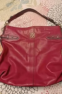 Fuschia leather coach bag Barrie, L4M 5B8
