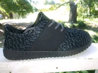 unpaired black and gray Adidas Yeezy Boost 350 Winder, 30680