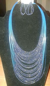 blue and white beaded necklace Tuscaloosa, 35405
