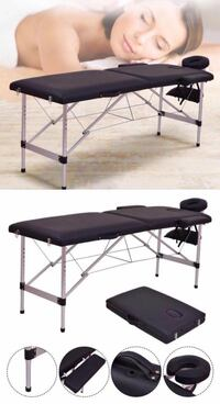 New in box 72 inches aluminum foldable portable spa massage tattoo parlor bed 500 lbs capacity Los Angeles, 90032