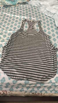 gray and black stripes tank top Mobile, 36695