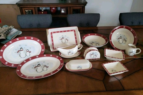 f0d64651 Used Holiday dishes - royal seasons snowman set for sale in ...