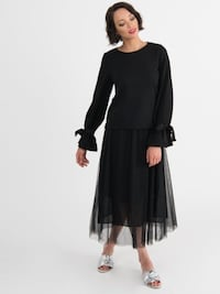 Tulle Mesh Skirt Black
