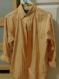 Orange and blue striped dress shirt, Ralph Lauren Arlington, 22206