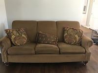 Couch including pillows