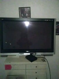 black LG flat screen TV 100 mi