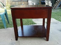 brown wooden single-drawer side table 1209 mi