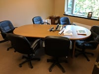 Conference Table with 6 chairs VANCOUVER