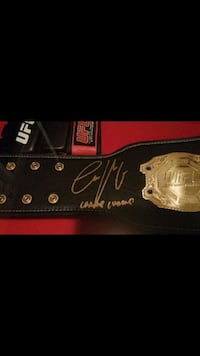 Conor McGregor signed belt
