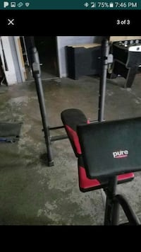 black and red pure gym equipment Chicago, 60657