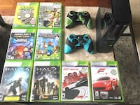 Xbox 360 + 2 controllers + 8 popular games $130 Franklin, 37069