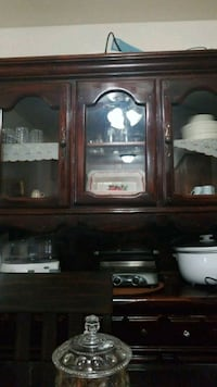 brown wooden framed glass display cabinet Oak Lawn, 60453
