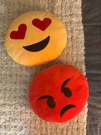 two red and white emoji themed cushions Alexandria, 22304