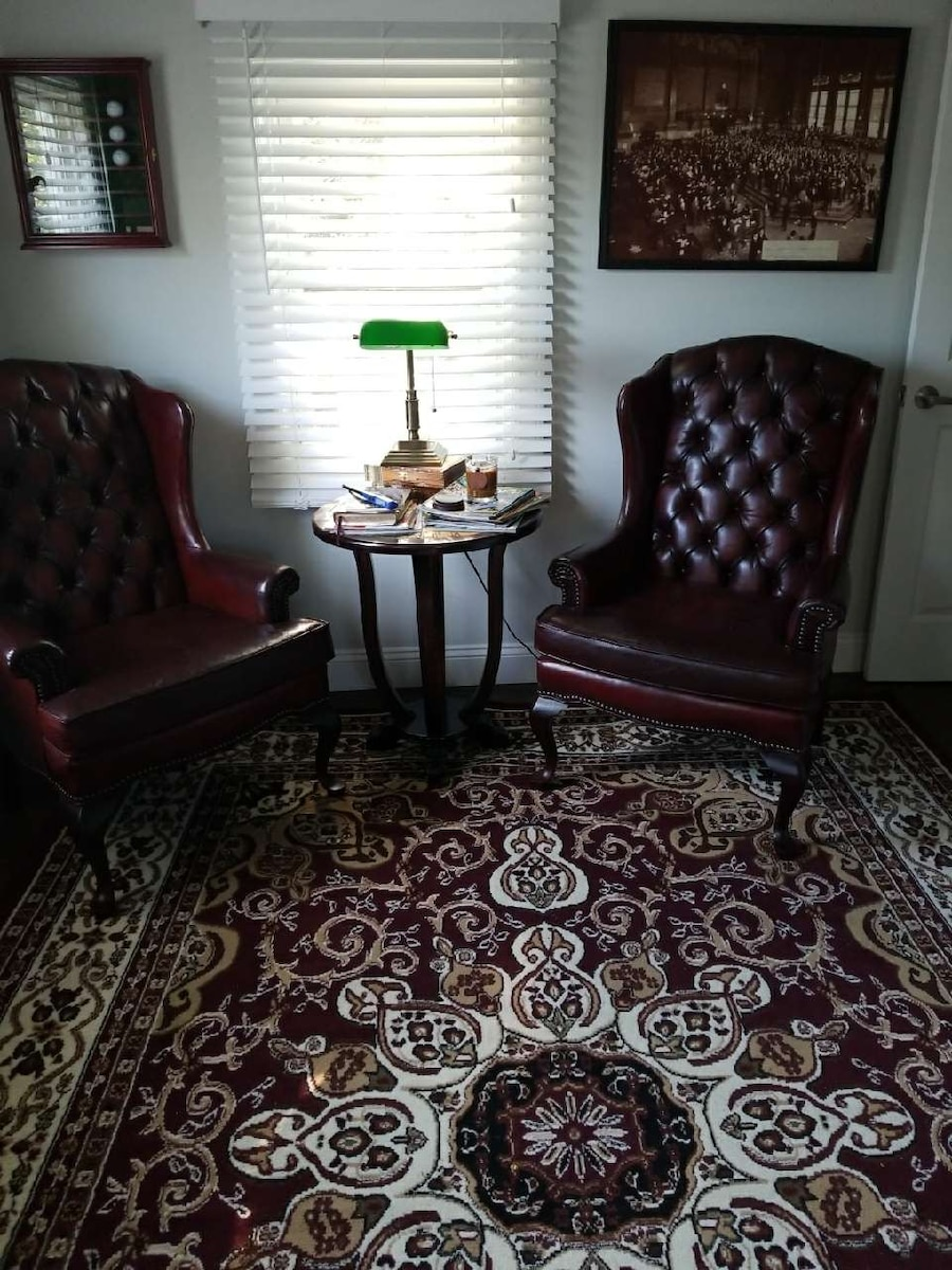 Petite Leather Wingback Chairs By Fairfield