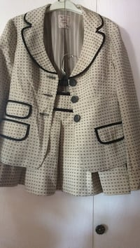 Women's brown and black polka dots suit coat and skirt 100 or OBO size 0