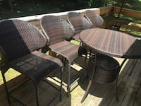 Hi top wicker table and four stools Conyers, 30013